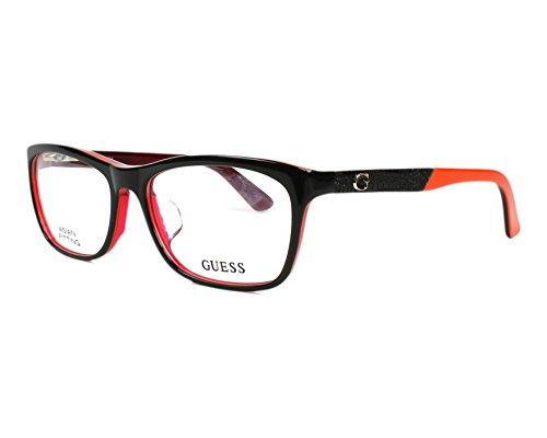 Guess Brillengestelle GU2510-48-54 Rechteckig Brillengestelle 54, Rot