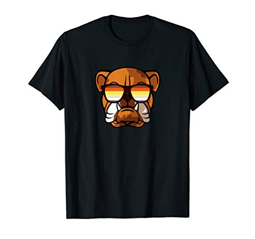 Gay Bulldog mit Sonnenbrillen - Cute Gay Pride Dog T-Shirt