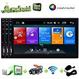 Double 2 Din 7 Zoll-Auto-Stereo-GPS-Navigationssystem in der Schlag-Head Unit Android 6.0 Autoradio Head Unit Bluetooth-Autoradio mit kapazitiver Multi-Touch-Screen-Auto-Videos Player (2 Din 7 Zoll-auto-stereo)