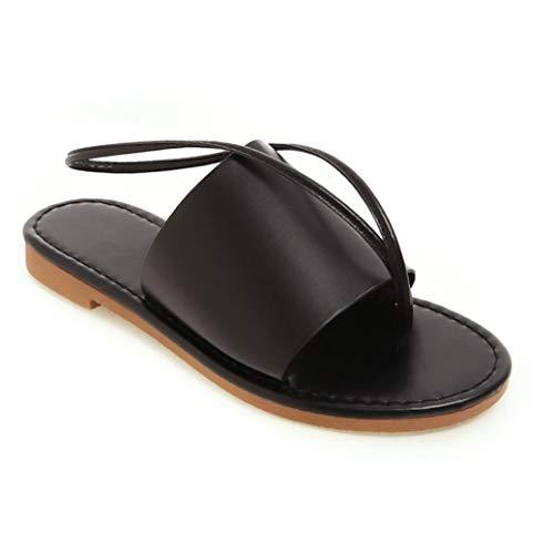 Frauen-breite Band-Flache Dia-Sandelholze Beleg auf offener Zehe-Rückseiten-Bügel-Hefterzufuhren Bequeme Faux-Leder-Sommer-beiläufige Schuhe -