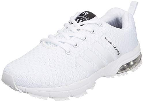 Damen Herren Laufschuhe Sportschuhe Turnschuhe Trainers Running Fitness Atmungsaktiv Sneakers(Weiß,Größe36)