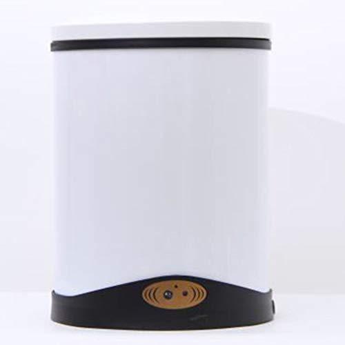 LWX Induktions-Mülleimer, Wohnzimmer-Schlafzimmer-Küche Mit Deckel-Metallelektrischer Mülleimer-Ausgangsbad-intelligenter Mülleimer Kann Hohe Kapazität (Farbe : B, größe : 8L)