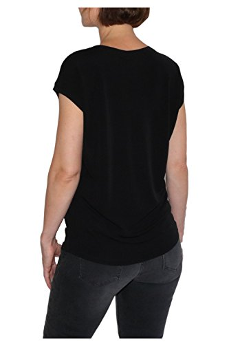 Monari Damen T-Shirt Crêpe - schwarz 802501 999 Schwarz
