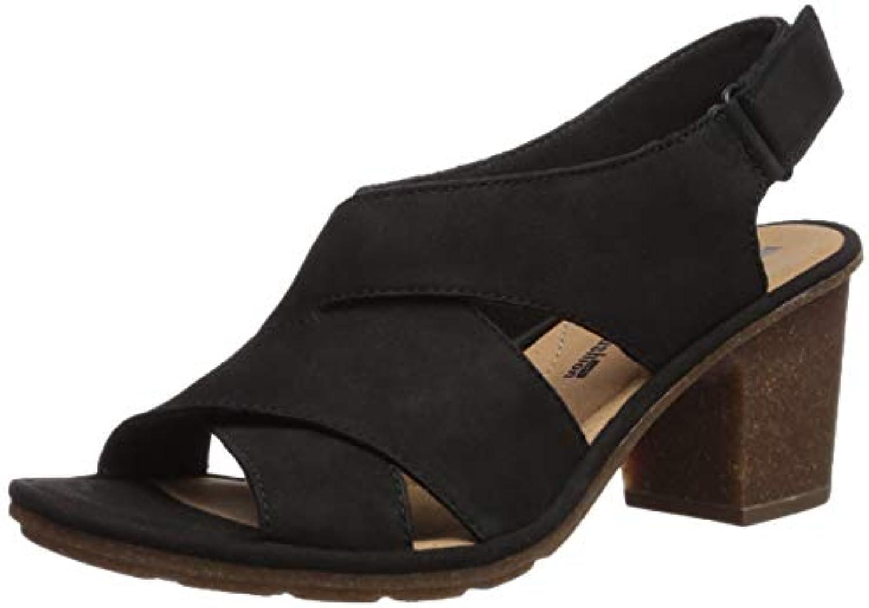 Clarks Wouomo Wouomo Wouomo Sashlin Nolte Heeled Sandal, nero Nubuck, 6 Medium US   Alla Moda  9155da
