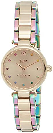 Coach Women's Carnation Gold Dial Ionic Plated Carnation Gold Steel & Ionic Plated Rainbow 2 S Watch -