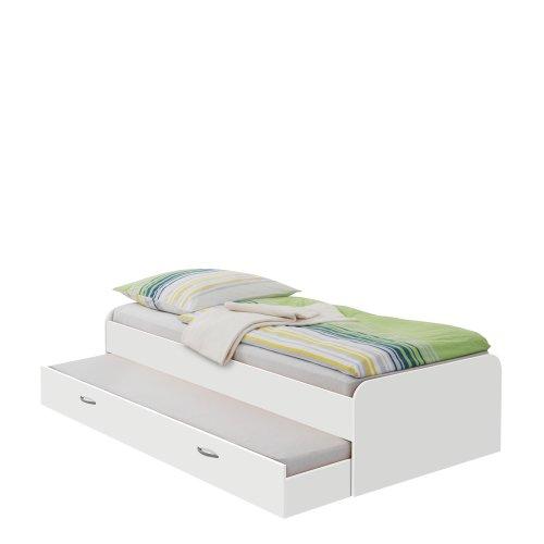 Preisvergleich Produktbild Unbekannt FMD Möbel 800-004 Bett Pedro 4 (B / H / T) 95.0 x 50.5 x 203.0 cm,  weiß