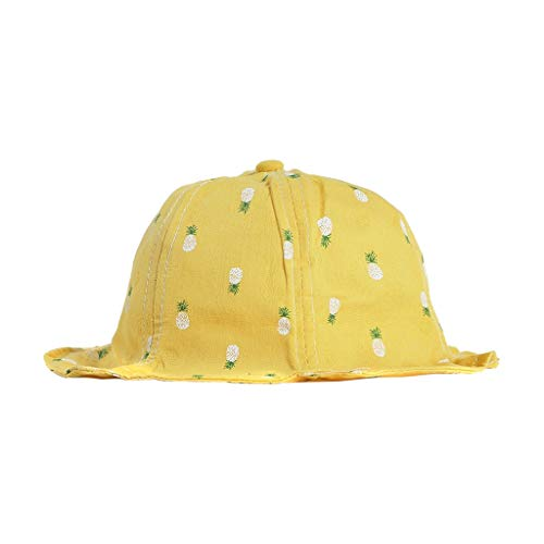 nderhat Kinder wildes beiläufiges Double-Sided Zwei Farben Fischer Hut Sommer Kappe Visier für Schule, Reise, Klettern, Reiten, tägliche Tragen (Gelb) ()