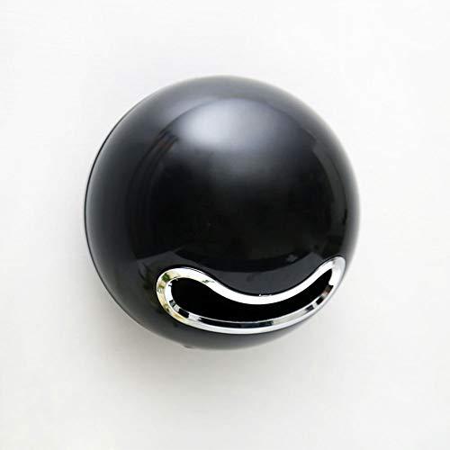 ASF15 Kreative Magic Ball Toilettenpapierhalter, Wandmontage, Nordic Ständer Toilettenpapierspender mit Schnappverschluss, Kleber-Gewebe-Kasten-Abdeckung for Badezimmer Küche (Color : Black)