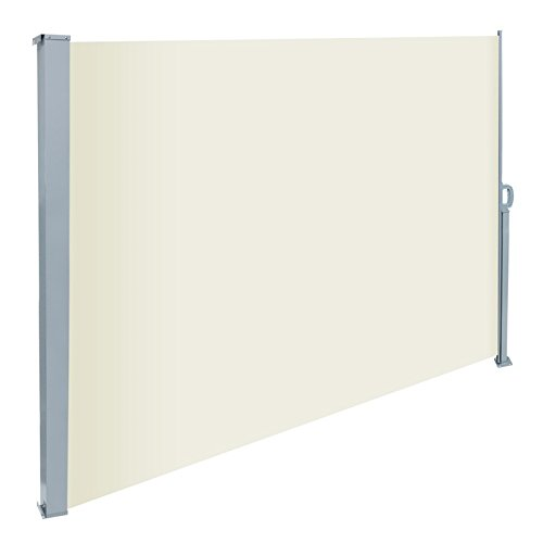ecd-germany-180-x-300-cm-beige-polyester-sidewall-awning-sun-protection-including-mounting-material