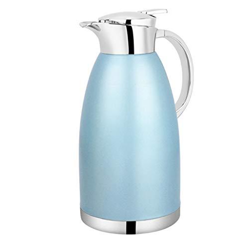 LRXG Thermoskannen, 304 Edelstahl Thermos Home Office Kaffee Saft Isolierung Große Kapazität 2.3L N4 (Farbe : Blau) - Thermoskanne-leak-proof-reise-becher
