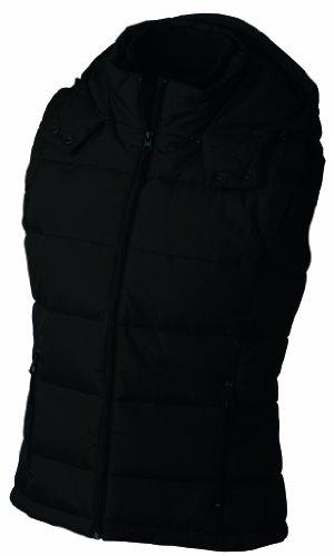 James & Nicholson Damen Padded Vest Outdoor Weste Schwarz (Black)