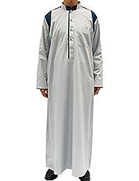 ab6ff2679562 TAAMBAB Musulmano Abaya Thobe Medio Oriente Kaftan Jalabiya Saudi Arabo Eid  Veste di Preghiera Uomo -