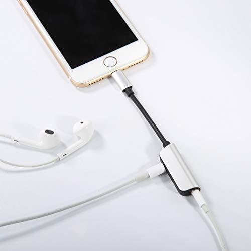 Kopfhöreranschluss für iPhone XR-Adapter Kopfhörer Audio-Splitter und Ladeanschluss für iPhone X / XS max / 7/7 Plus / 8 / 8Plus Unterstützung für Musikhören und Ladehilfe iOS 11.4 System -Sliver - 8