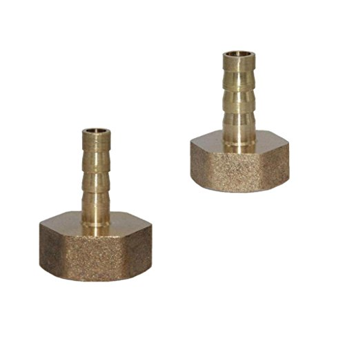 Npt Swivel-adapter (FLAMEER 2 Stücke Messing Fitting Schlauch Barb 1/2 '' NPT Buchse Schnellkupplung Koppler)