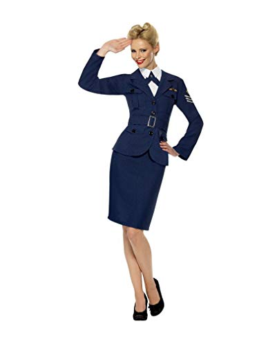 Stewardess 3 Kostüm Teiliges - Horror-Shop 40s Wartime Sweetheart Kostüm M 40-42