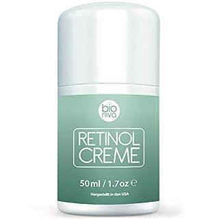 Retinol Lift Creme Testsieger 2019 - 2.5% Retinol Liposomen Liefersystem mit Vitamin C & Botanische Hyaluronsäure. Natürliche Anti Aging Retinol Feuchtigkeitscreme von Bioniva 50ml
