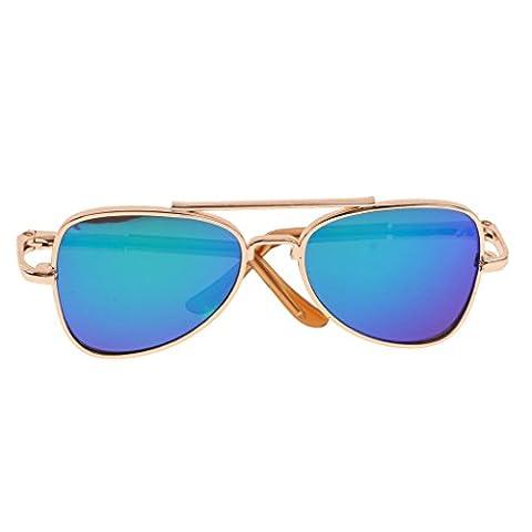 Sharplace Pair of Trendy Gold Framed Eye Glasses Eyewear for 12inch Neo Takara Blythe Dolls Accessories