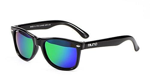 Miuno® Kinder Sonnenbrille Polarisiert Polarized Wayfare Etui 6833 (Grünverspiegelt)
