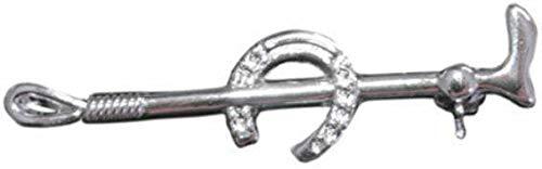 HKM 540131 Plastronnadel Silber Hufeisen, M