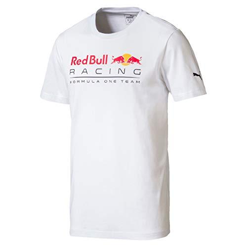 PUMA Red Bull Racing Herren Logo T-Shirt Puma White XL - Red Bull Logo