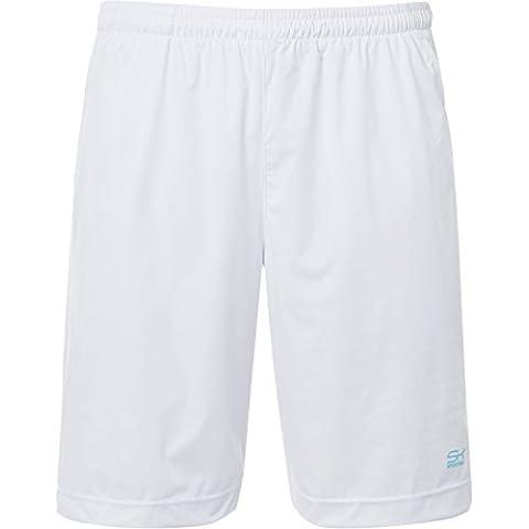 Deporte Niño Pantalón ligero de//Sport pantalones cortos de entrenamiento con bolsillos laterales y red de tenis en blanco a partir de niño y hombre (Tallas: 110–XXL, todo el año, color blanco, tamaño 11 años (146