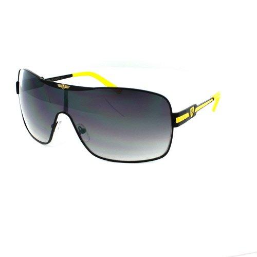 (3 Pack) KHAN Sunglasses Shield 3728 - Yellow
