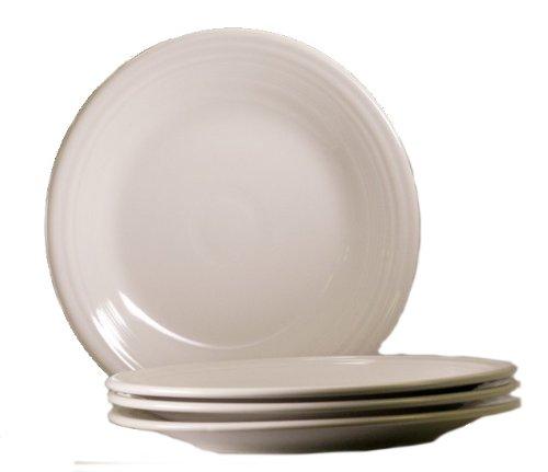 Fiesta 10-1/2-Inch Dinner Plate, White, Set of 4 by Homer Laughlin Homer Laughlin Dessert