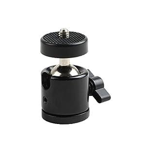 Agemore 360° drehbares Mini-Stativ mit Kugelkopf und 6,3-mm-Gewindebasis für DSLR-Kamera, Camcorder