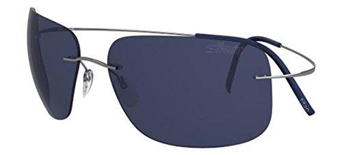 Silhouette occhiali da sole tma ultra thin 8677 ruthenium/blue uomo