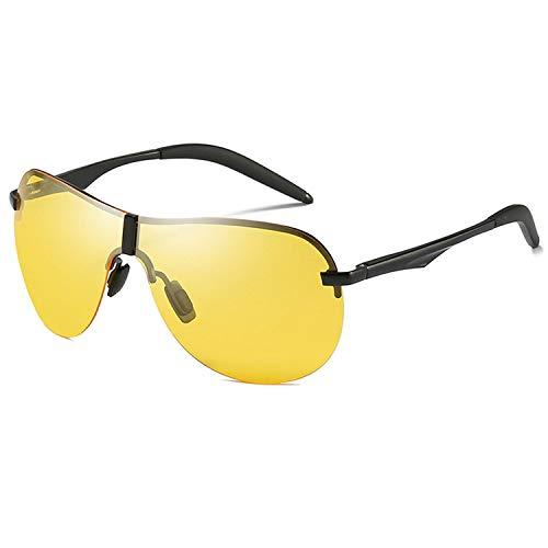DEER HOUSE Herren Sonnenbrille, Aluminium, Magnesium, polarisiert, UV400, Sonnenbrille Gr. Einheitsgröße, Night Vision