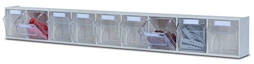 hünersdorff Klarsichtbehälter / Aufbewahrungsbox / Riegel für ein optimales MultiStore-Lagersystem im Baukastenprinzip aus hochschlagfestem Kunststoff (PS), Nr. 9
