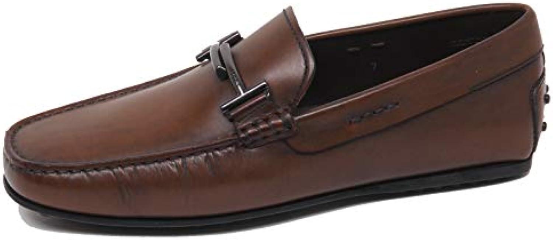 F0324 Mocassino Uomo Marronee Tod'S Scarpe Vintage Effect Loafer scarpe Man | Materiali Di Altissima Qualità  | Uomo/Donna Scarpa