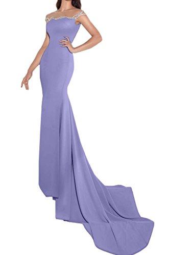 ivyd ressing Femme Fashion Etui Ligne pierres traîne Party robe Prom Lave-vaisselle robe robe du soir Lilas