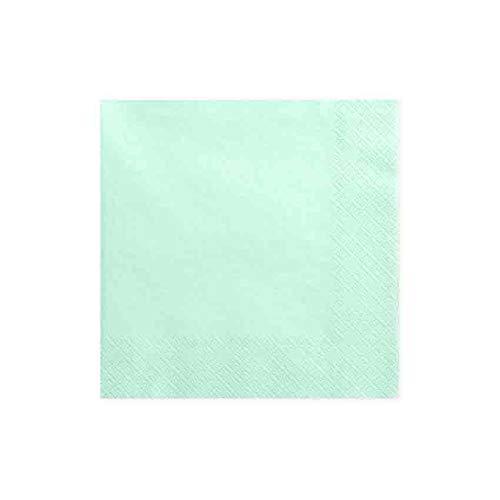 jakopabra Servietten 33 x 33 cm 3-lagig aus Papier (Mint) -