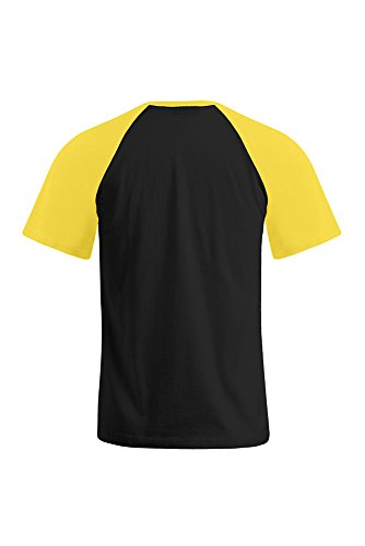 Raglan T-Shirt Herren Schwarz-Gold