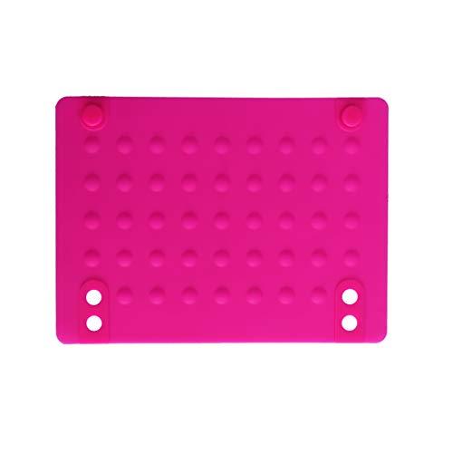 Lurrose - Almohadilla aislante de silicona resistente al calor para alisador de cabello (rosa)