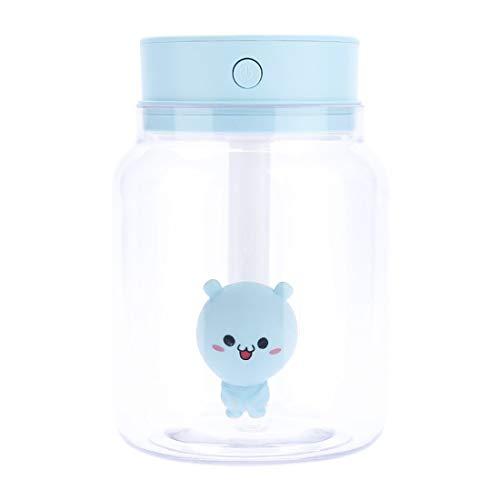 Lieyliso Candy Jar Transparentes Difusores ultrasónicos portátiles Humidificador de Niebla fría 400 ml Sin Agua Apagado automático (Color : Blue)