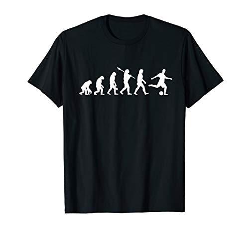 Fußball Evolution T-Shirt   Lustiges Shirt für Fußballfans (Lustige Fußball-t-shirts)