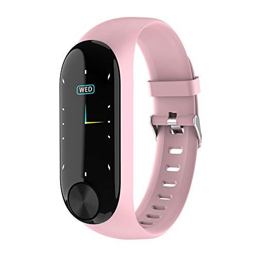 Fitness Tracker, braccialetto sportivo impermeabile Bluetooth con touch screen sottile, cardiofrequenzimetro, monitoraggio del sonno, rosa
