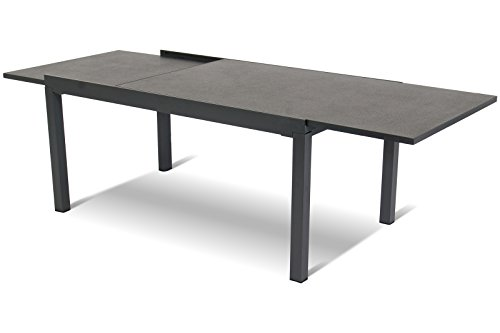 Hartman stilvoller Ausziehtisch Tipperary, hochwertiges Aluminiumgestell in xerix und grau, HPL...