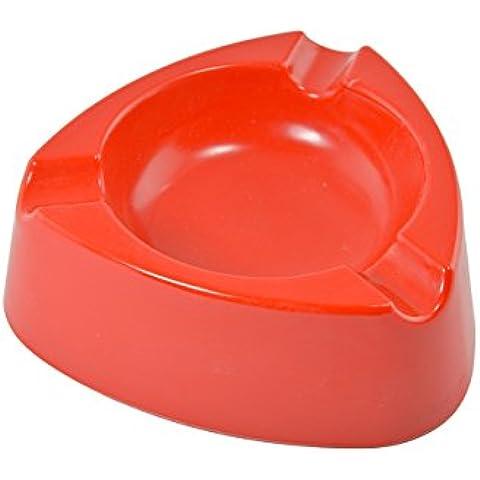 Posacenere portacenere in plastica–10pezzi–colore: rosso–diametro: 12,0cm–semplice–Cool–economico