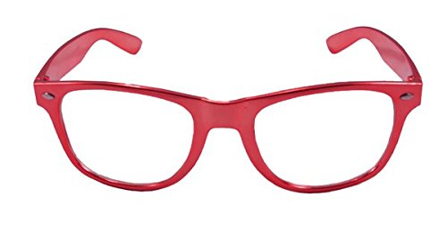 Folat Party Brille Blues Brothers Metallic Rot