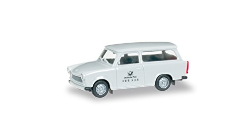 herpa-091831-modello-in-scala-trabant-601-universale-deutsche-post-ddr