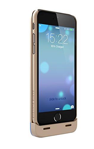 Boostcase Hybrid Cover Batteria per Ricarica di Emergenza per iPhone 6, 2700 mAh, Oro Oro