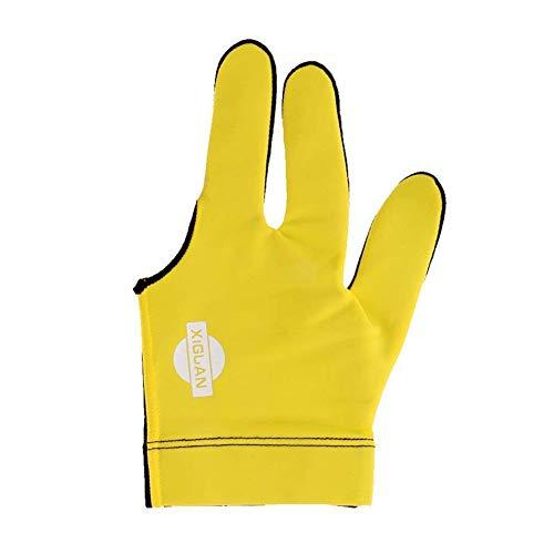 Beito 10.5cm Billard Handschuhe Gelb Snooker Billard Queue Glove Pool Left Hand DREI Finger Mitt Zubehör