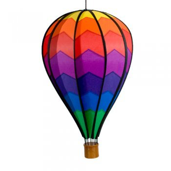CIM Windspiel - Heißluftballon Mountain - wetterbeständig - Ballon:Ø28cm x 48cm, Korb: 4.5cm x 4cm - kugelgelagerte Aufhängung (Mountain)
