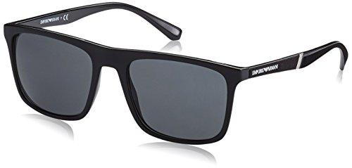 Emporio Armani Herren 501787 Sonnenbrille, Schwarz (Black), 56