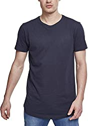 Urban Classics Herren Shaped Long Tee T-Shirt, Blau (navy), XL