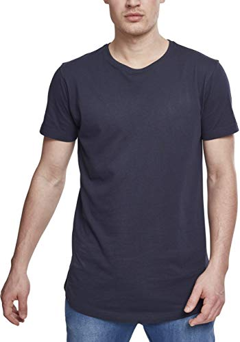 Urban Classics Herren T-Shirt Shaped Long Tee TB638, Blau (navy), XL