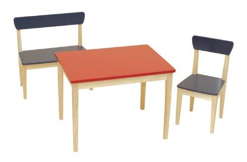 roba 50715 - Kindersitzgruppe, Massivholz, Medium Density Fibreboard lackiert, bestehend aus 1x 50773 Kinderstuhl, 1x 50663 Sitzbank, 1x 50723 Kindertisch